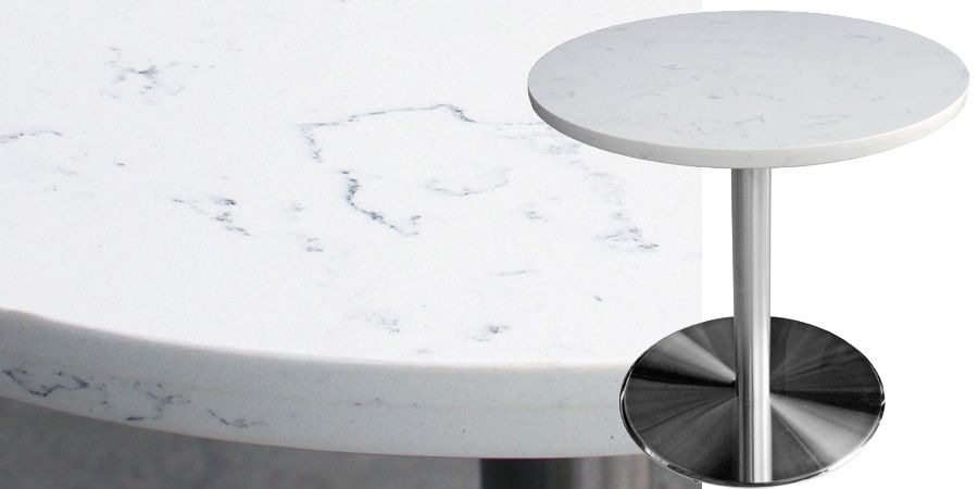 Mesa Quartz Restaurant Table Carrera Restaurant Table Tops Restaurant Tables Cafe Furniture