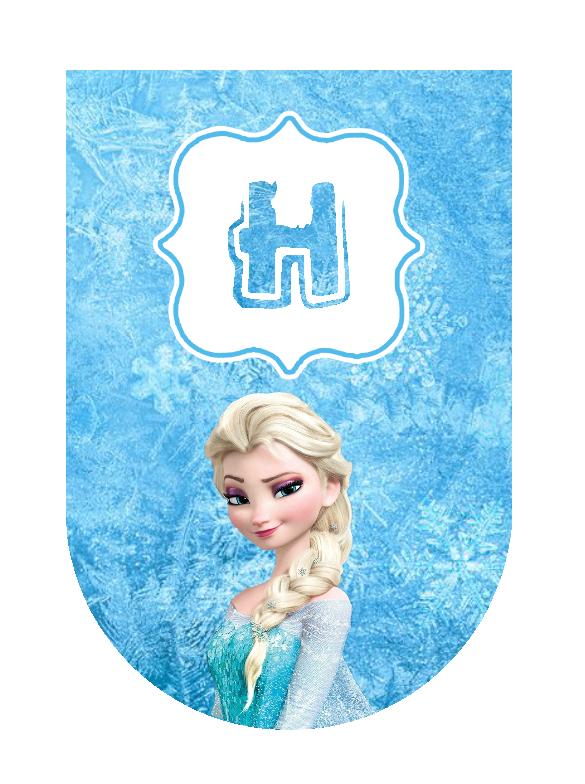 A télécharger / Printable  - Fanion de banderole Reine des Neiges - Frozen Banner