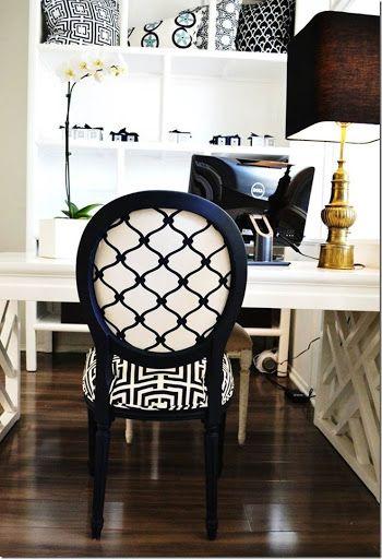 Savanna Interior Diy Mini Pond: King Louis Chairs Reupholstered Polka Dot