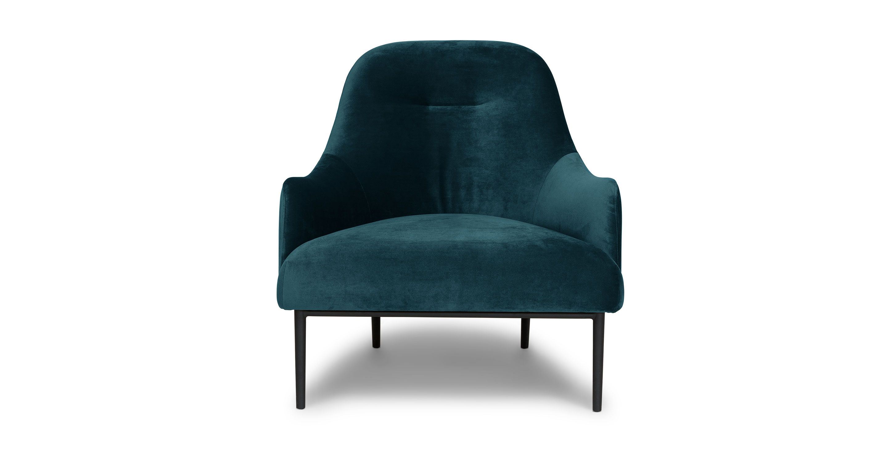 Modern light blue leather swivel lounge chair dove midcentury - Embrace Mercury Blue Chair Lounge Chairs Article Modern Mid Century And