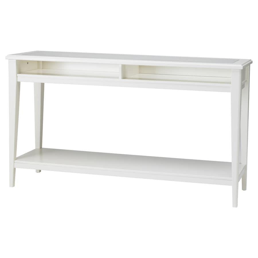 Ikea Tavoli Di Vetro.Liatorp Tavolo Consolle Bianco Vetro 133x37 Cm Tavolo