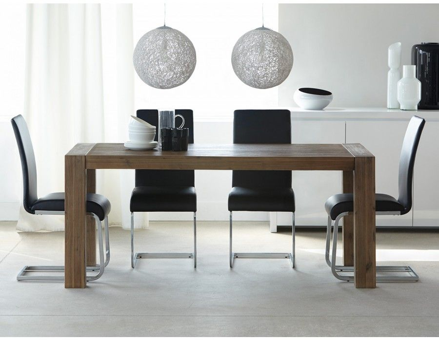 hamburg table rallonge en bois d 39 acacia massif rallonges bois massif et massif. Black Bedroom Furniture Sets. Home Design Ideas
