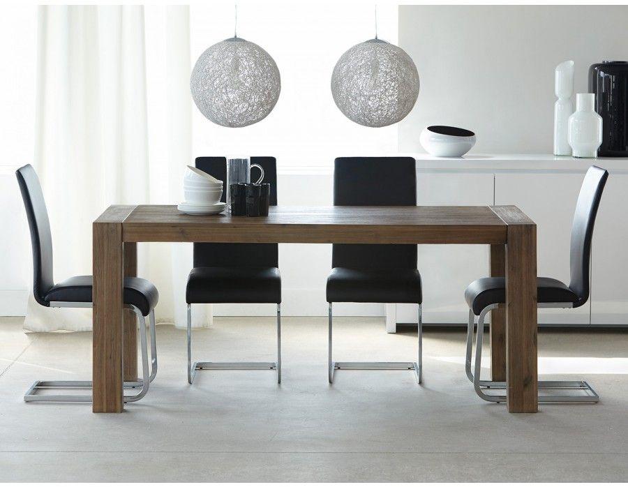 HAMBURG Acacia Wood Extendable Dining Table | Structube