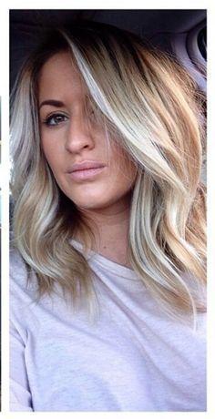 Blonde Medium Hairstyles With Fringe