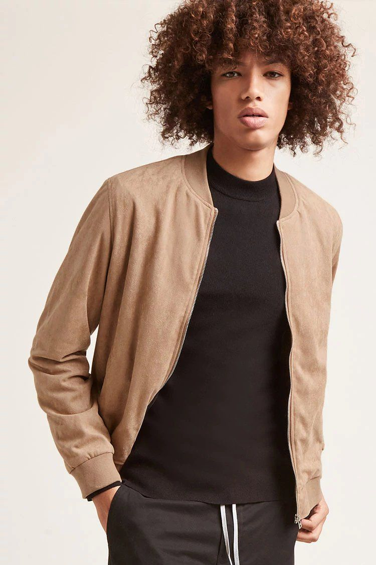 Faux Suede Bomber Jacket Forever 21 Suede Bomber Jacket Suede Bomber Bomber Jacket [ 1125 x 750 Pixel ]