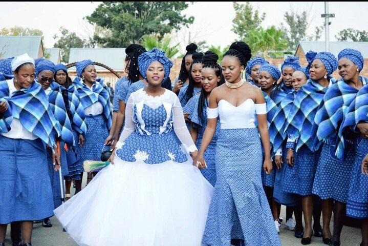 Setswana Wedding Seshoeshoes Tswana Attire Traditional Wedding