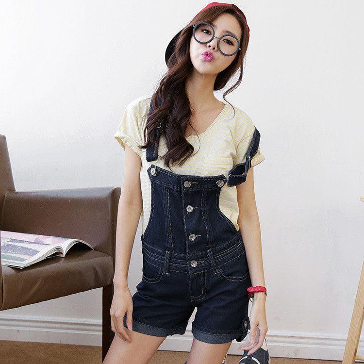 short denim overalls women plus size bib overalls jardineira jeans