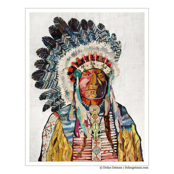 004 Native American Headdress / American Indian Chief by