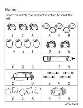 Back To School Kindergarten Math Activities And Worksheets For The Common Core Kindergarten Math Activities Math Activities Kindergarten Math
