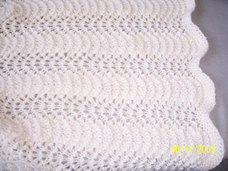 Feather And Fan Lace Pattern Baby Blanket Afghans Knit