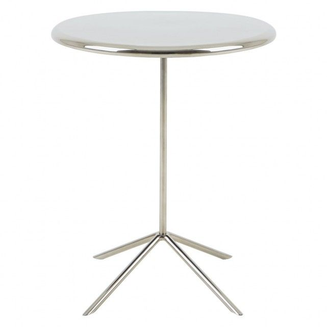 Estelle Silver Round Side Table In 2019 New Home Ideas