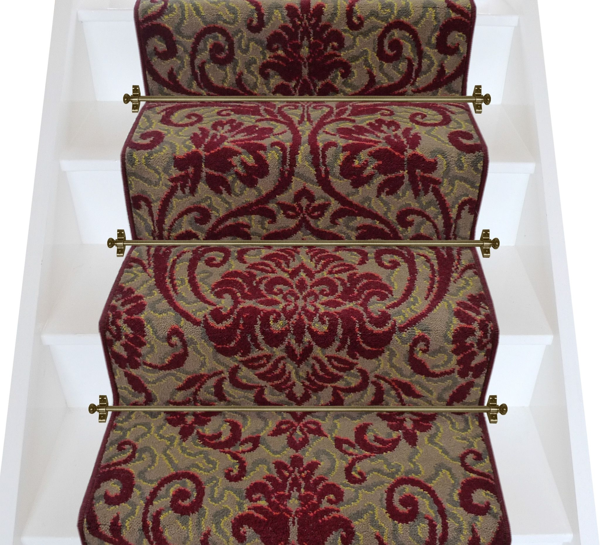 Best Axminster Carpets Medici Ruby Damask Stair Runner Per 400 x 300