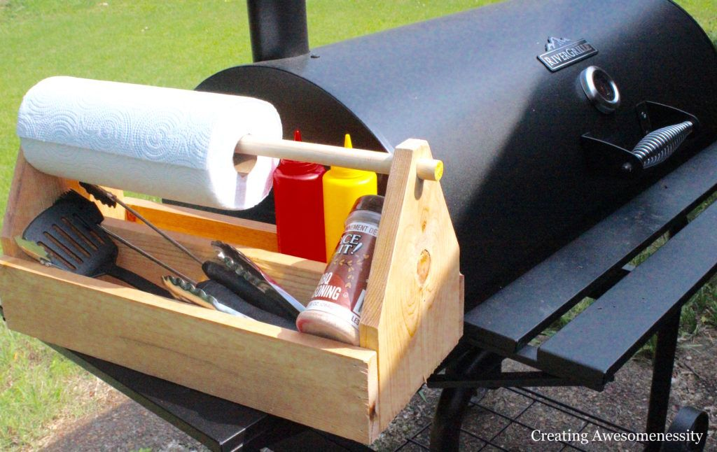 How To Make Your Own Easy Grill Caddy Wood Shop Projects Diy Wooden Projects Diy Bbq