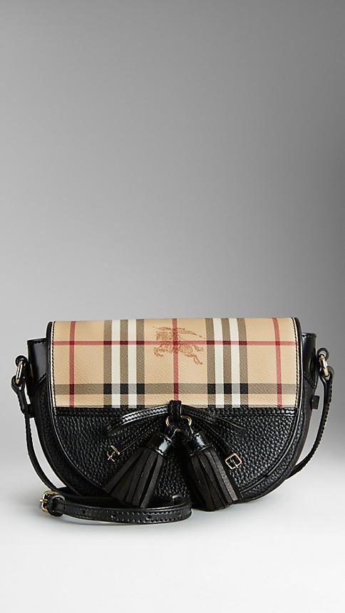 daadf0177889 Haymarket Check Tassel Crossbody Bag