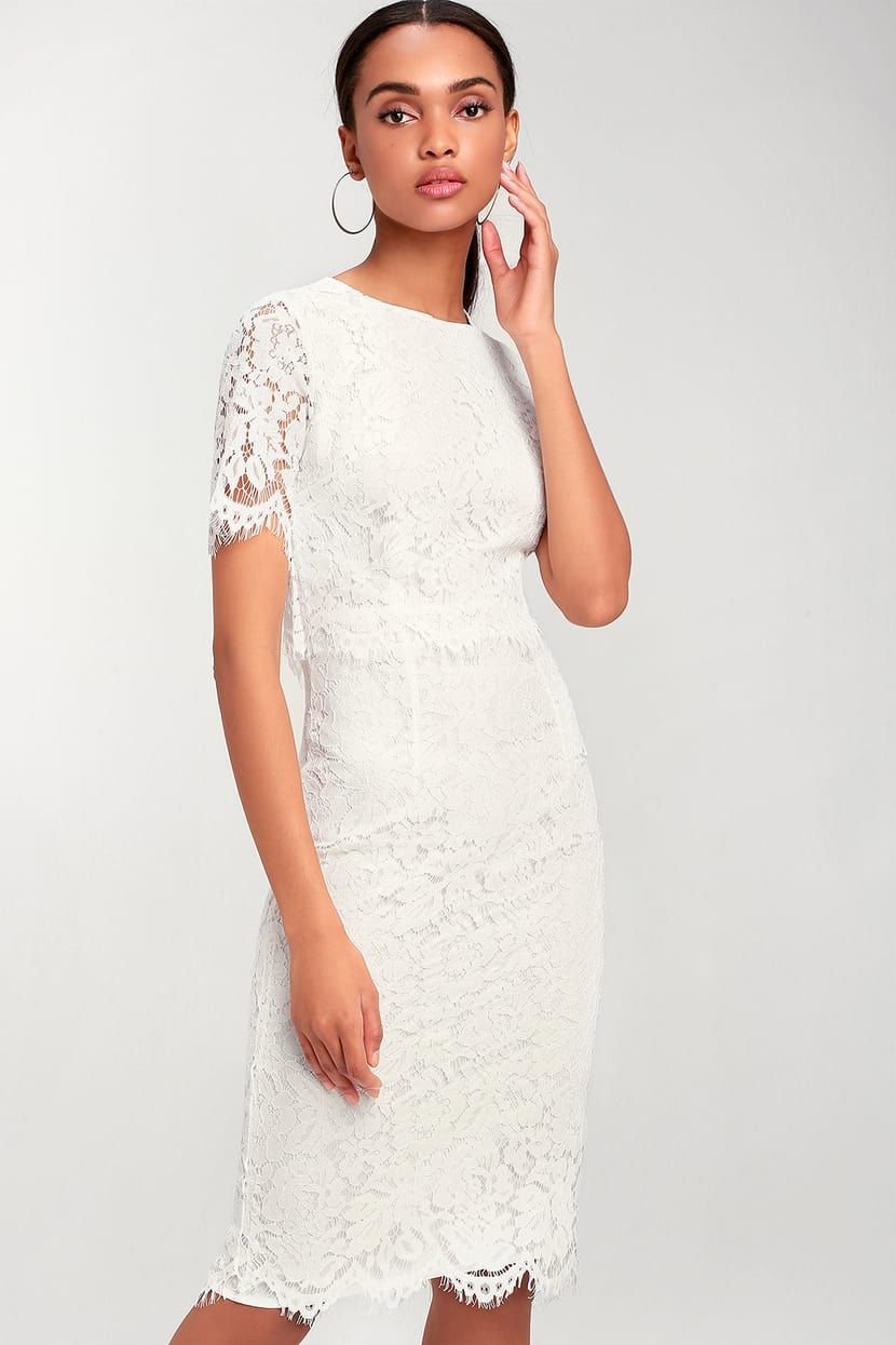 Devotion White Lace Short Sleeve Midi Dress Midi Short Sleeve Dress White Lace Shorts White Lace Midi Dress [ 1245 x 830 Pixel ]