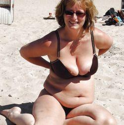 at the beach mature moms Real