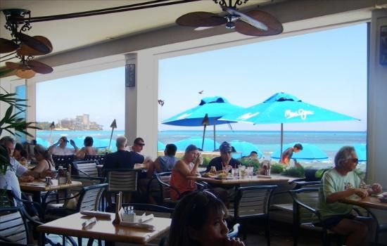 Sbird Restaurant In Waikiki At The Outrigger Reef