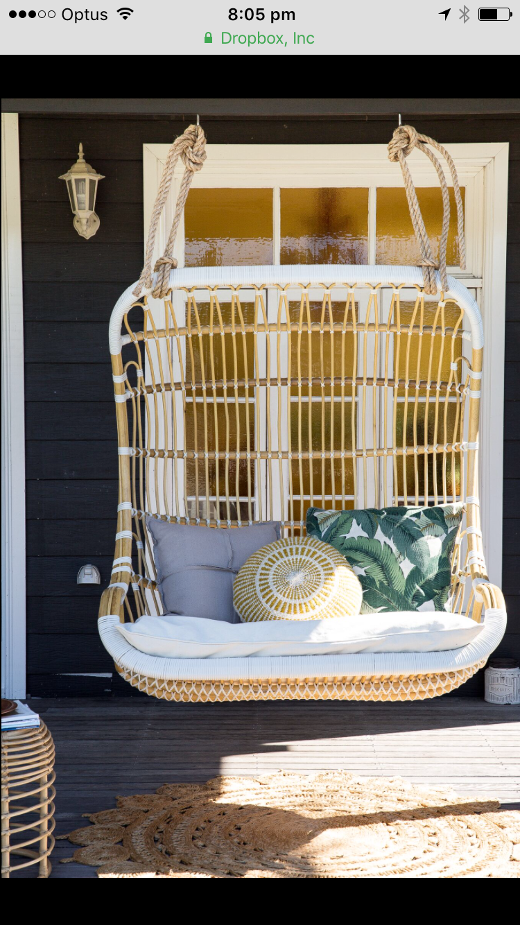 70 S Love Seat Byron Bay Hanging Chairs Front Porch