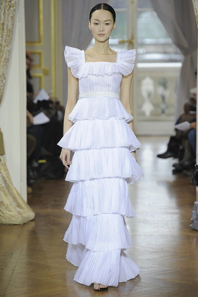 White Ruffles at Christophe Josse Spring Couture 2013 # ...