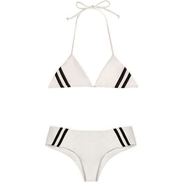 36 Swimsuits That Prove Triangle Bikinis Are Always in Style ❤ liked on Polyvore featuring bikini and swimwear