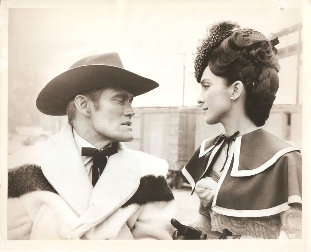 "KAMALA DEVI & CHUCK CONNORS in ""Geronimo"" Original Vintage Photograph 1962"