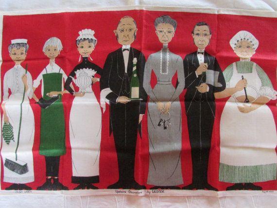 Vintage tea towel, by Ulster