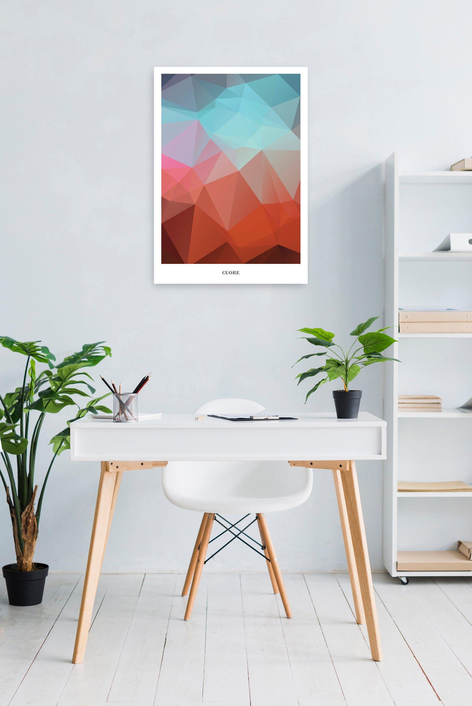 CUORE | Geometrisches WallArt, Printable Triangle Illustration, minimalistisches Poster, Bild, Kunst, Druck, Download druckbar, abstrakt von PrintfulPoetry auf Etsy