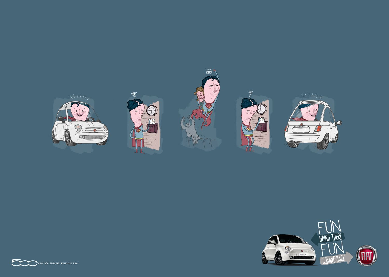 Fiat 500, Fun going there, Fun coming back (Leo Burnett Iberia, Spain)
