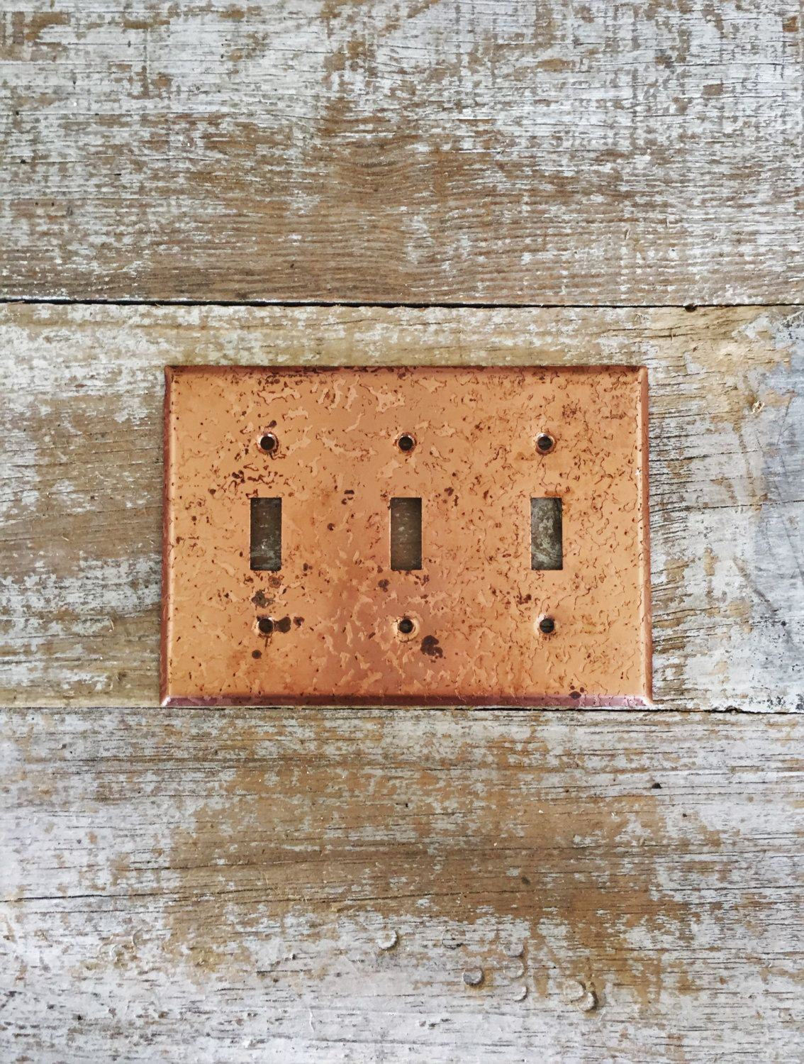 Copper Light Switch Plates Triple Light Switch Cover Copper Light Switch Cover Metal
