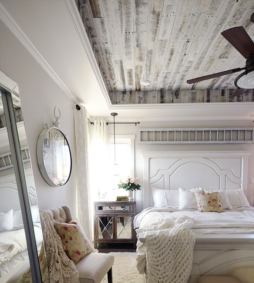 Tray Ceiling Bedroom, Farmhouse Master