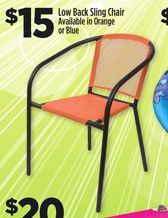 Low Back Sling Chair From Dollar General 15 00