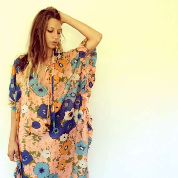 Santa Monica Dress // vintage 70s boho ethnic by FenixVintage, $72.00