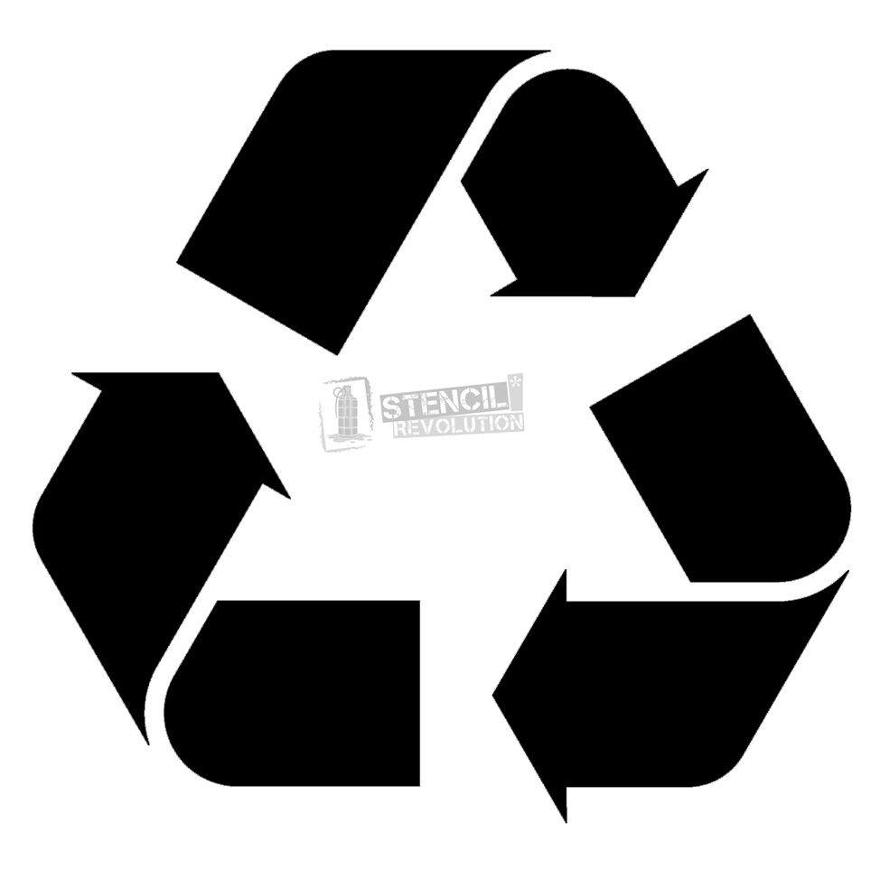 Recycle Stencil Stencils Pinterest Recycle Symbol Stenciling