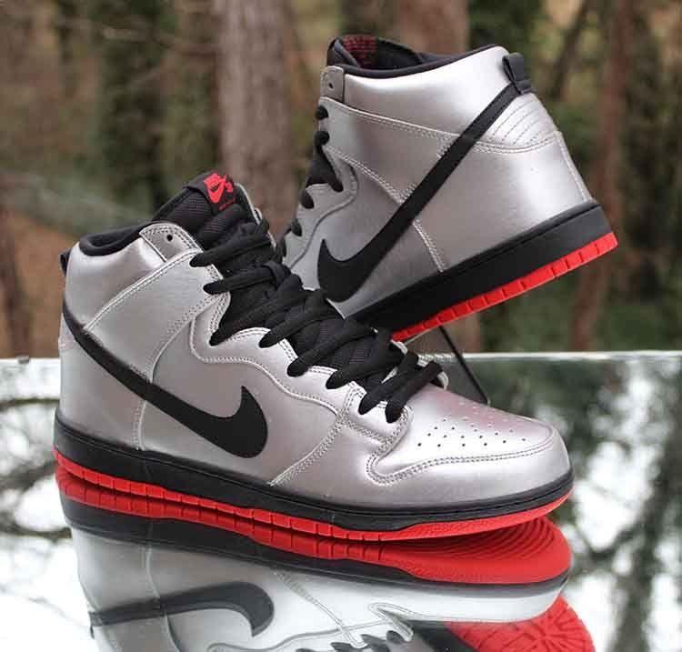 "181734c3ac37 Nike SB Dunk High Pro ""Steel Reserve"" Metallic Silver 305050-027 Men s Size  12  Nike  Skateboarding"