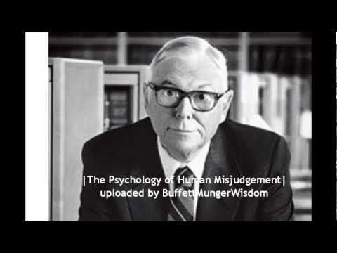 The Psychology Of Human Misjudgement Charlie Munger Full