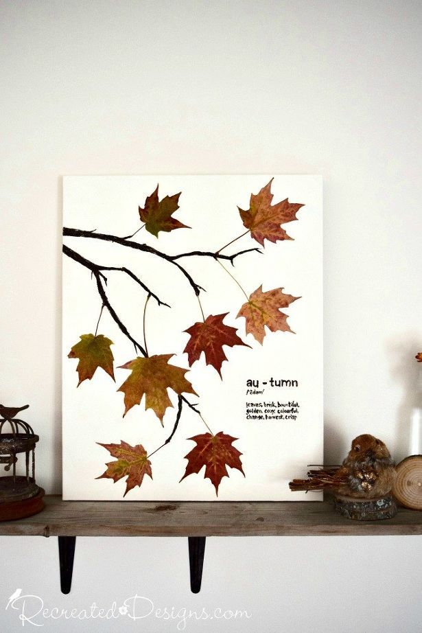 Photo of Make Stunning Art for Fall on a Budget