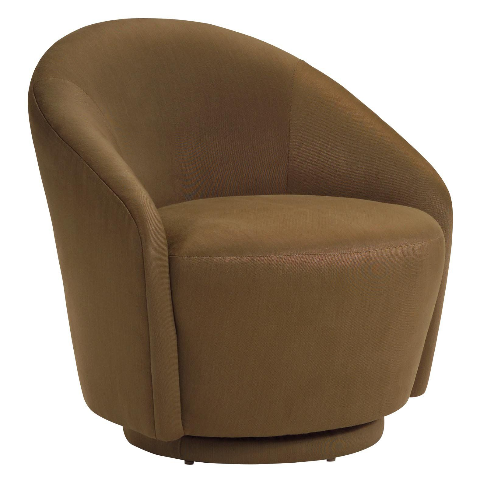 Petite Swivel Accent Chair   Color Brown Dimensions 30W X 33D X 32H In. (