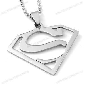 I found 'Stainless Steel Big Superman Symbol Charm Pendant Fashion Necklace' on Wish, check it out!