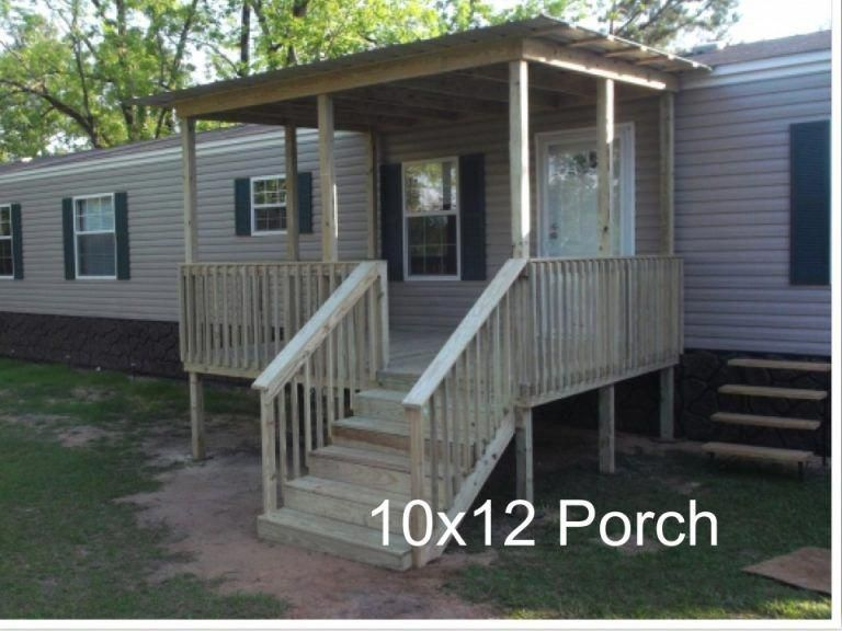 Ready Porch Ready Deck Remodelingamobilehome Mobile Home Porch Building A Porch Porch Design