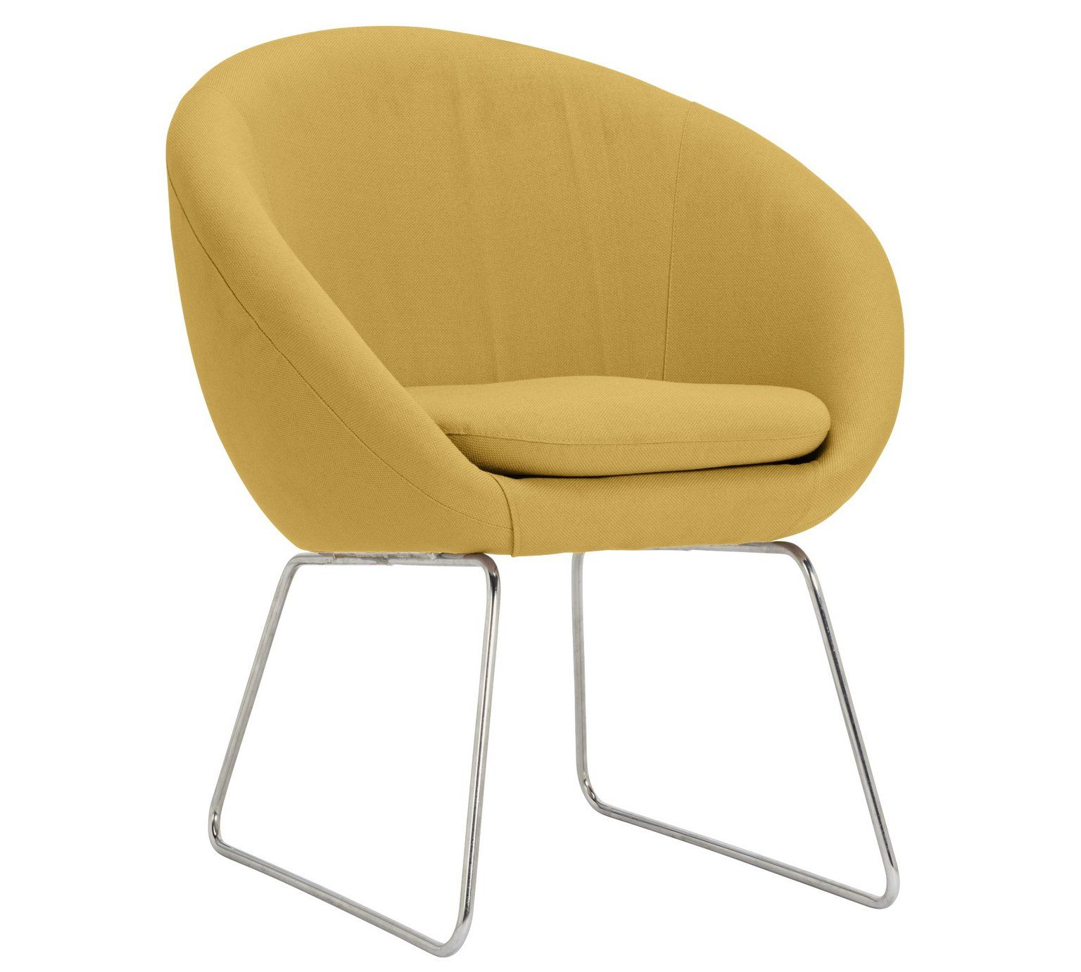 Buy Argos Home Fabric Pod Chair Yellow Armchairs and