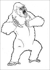 King Kong Color In Printable King Kong Coloring Pages Mandala Coloring Pages