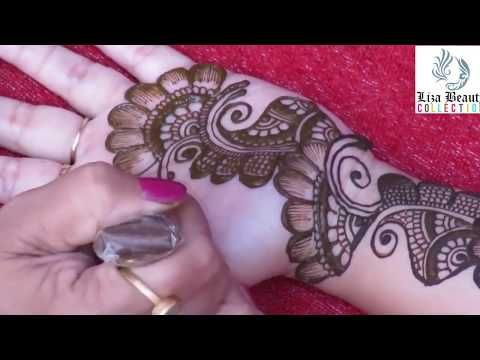 Henna Mehndi Vector Free Download : Dubai mehndi design for hand easy way to create style rose