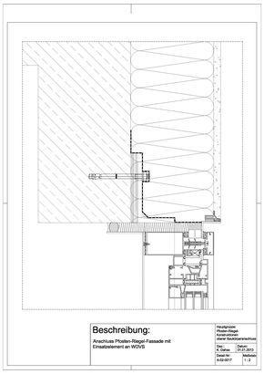 A 02 0017 Anschluss Einer Pfosten Riegel Fassade Mit