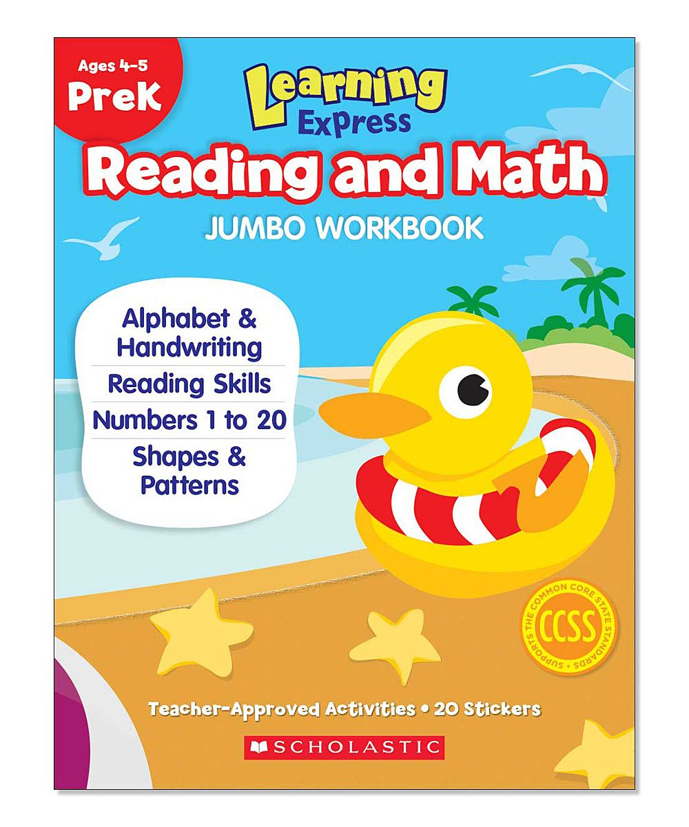 Workbooks prek workbooks : Pre-K Learning Express Reading & Math Jumbo Workbook | Early ...