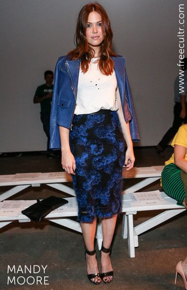 Mandy Moore played it casual cool while attending Billy Reid - Spring 2013 Mercedes-Benz Fashion Week.