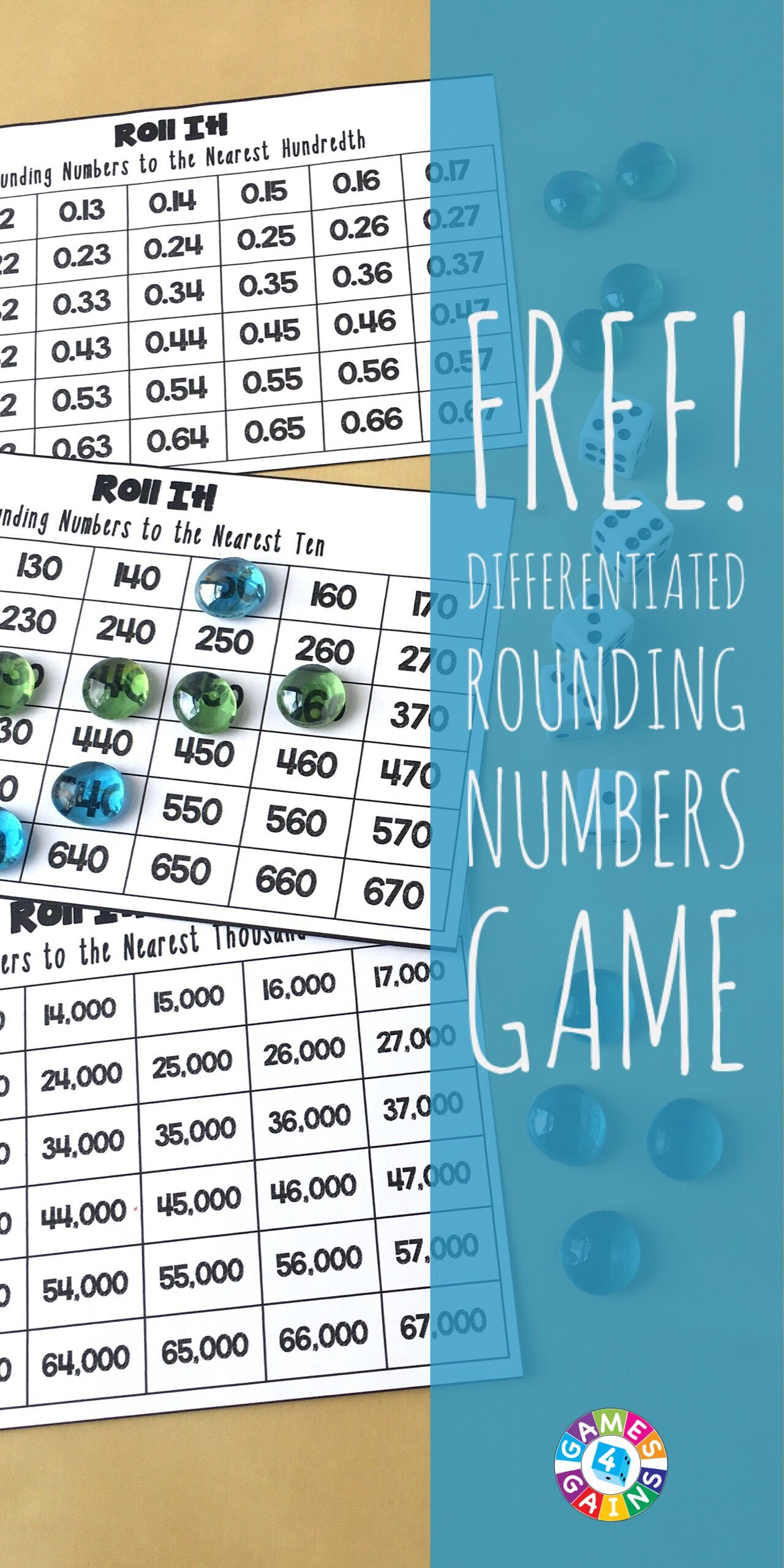 Roll It! Rounding Game | Rounding games, Rounding decimals and Game ...