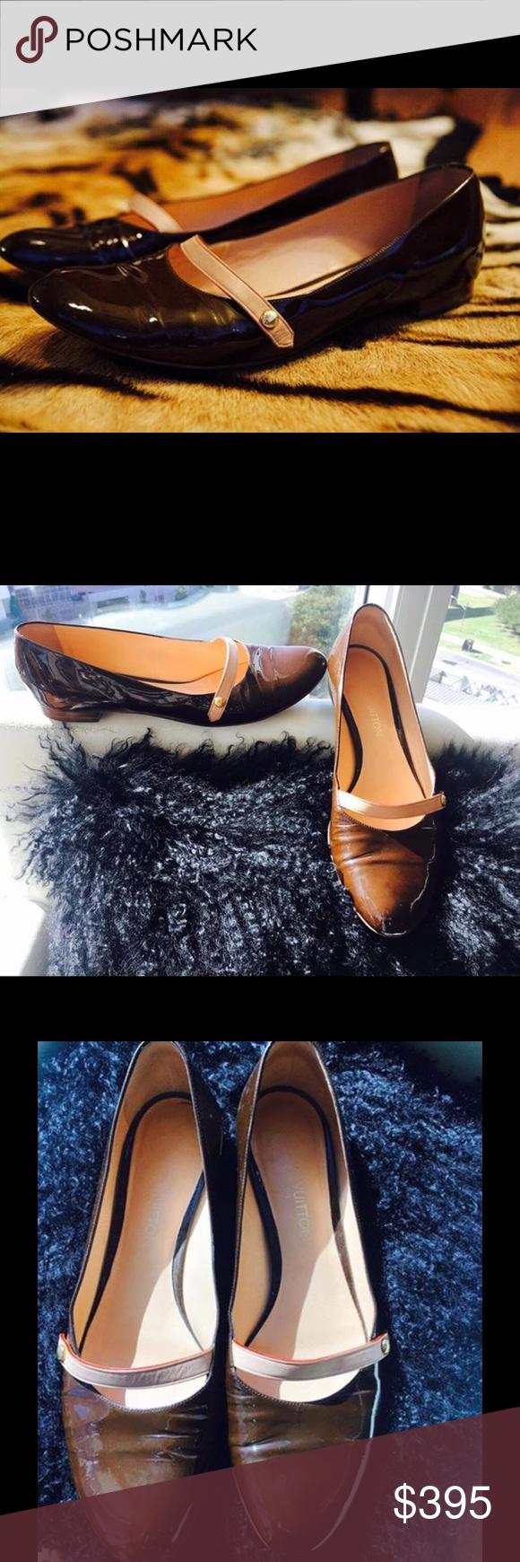 a4660a5d43d5 Louis Vuitton Ballerina Flats Size 11 Euro  41 US  9 Brown and tan