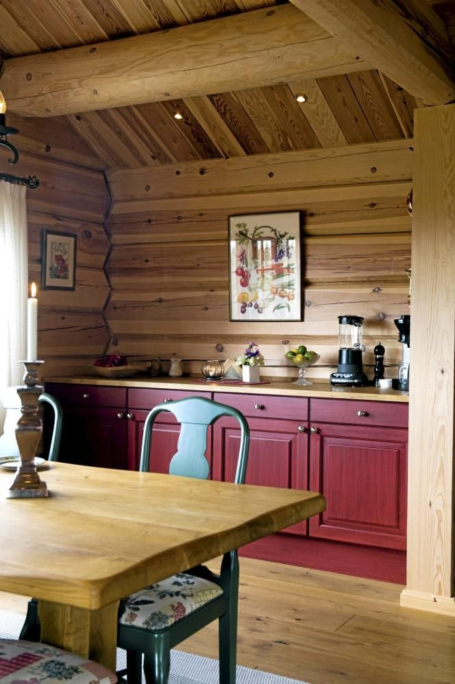 Best Small Log Cabin Kitchen Cabin Ideas For Jim Pinterest 640 x 480