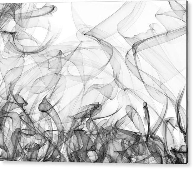 Mariia Kalinichenko Acrylic Print featuring the digital art Grey Snood On White by Mariia Kalinichenko #MariiaKalinichenko