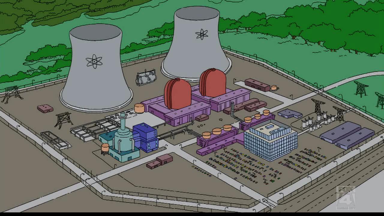 Simpsons Nuclear Power Plant Nuclear power plant, Power